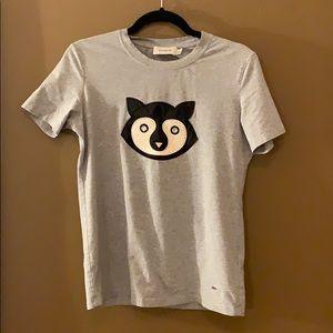 Coach Casual Gray T-Shirt Raccoon